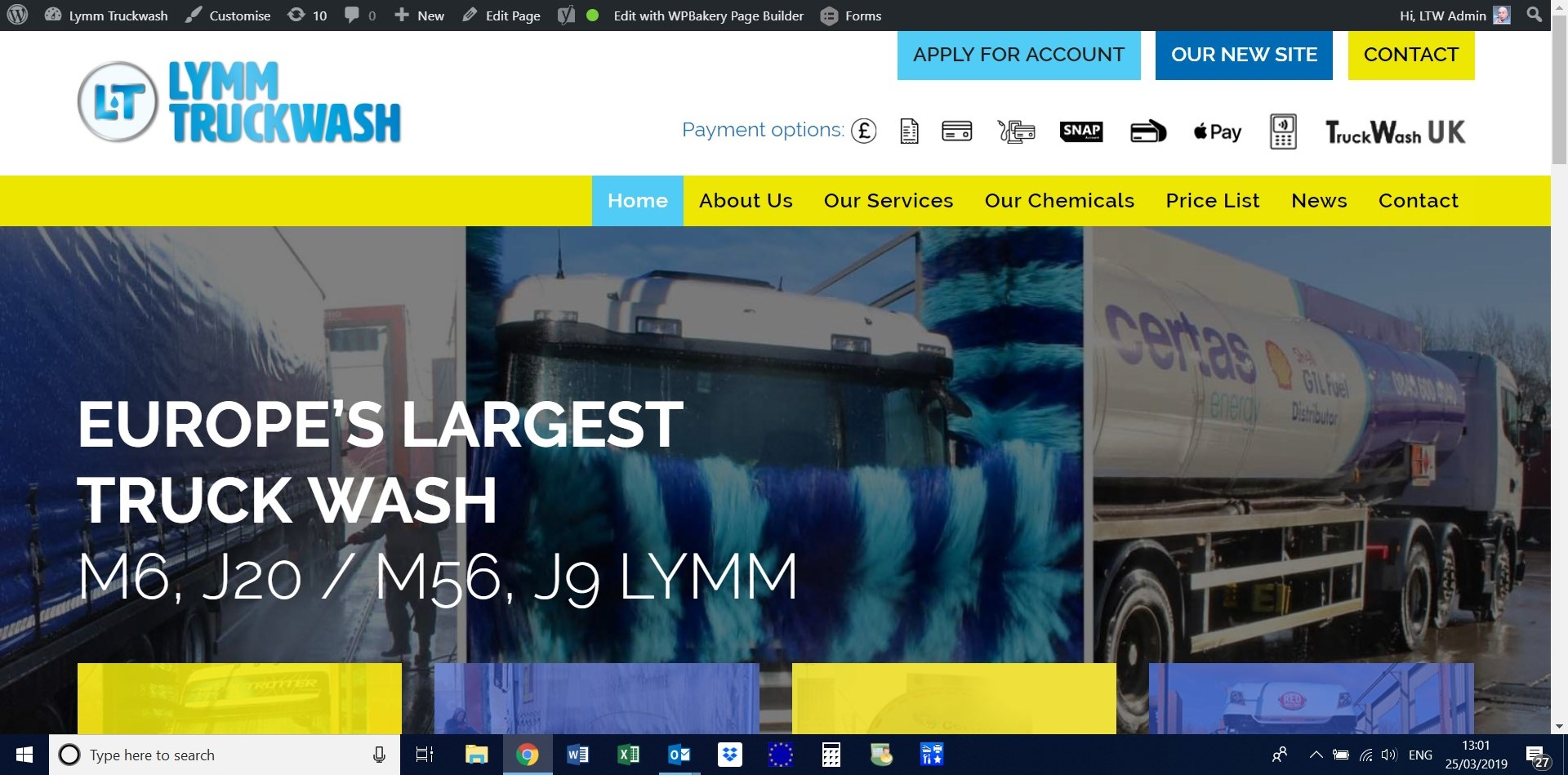 Lymm Truckwash new website